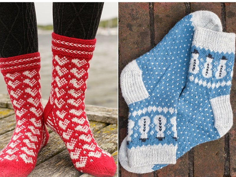 Winter Socks Free Knitting Patterns