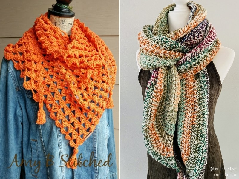 Colorful Scarves for Autumn and Winter with Free Crochet Patterns