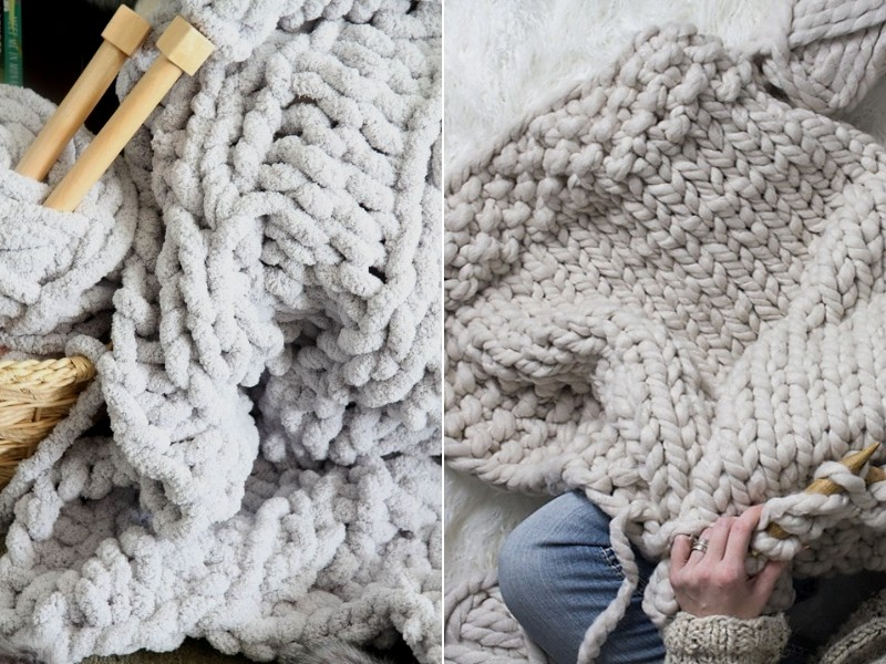 Big and Thick Blankets Free Knitting Patterns