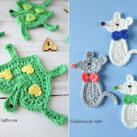 Amusing Animals Appliques Free Crochet Patterns