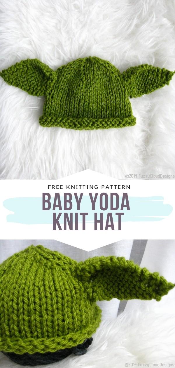 Baby Yoda Knit Hat Free Knitting Pattern