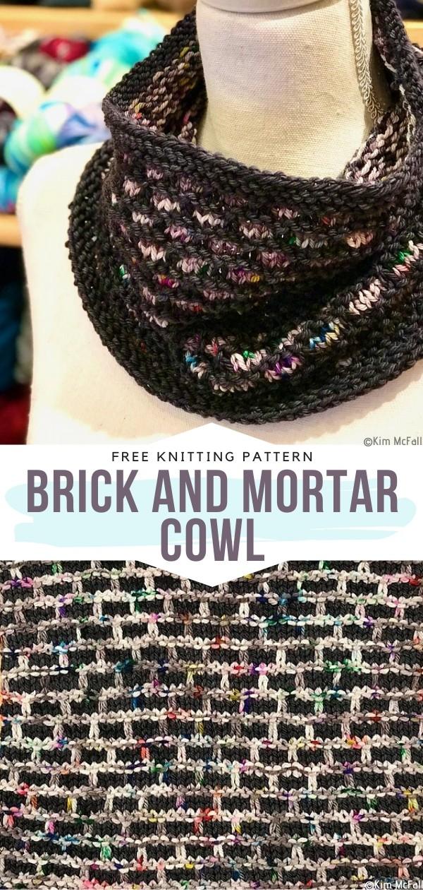 Brick and Mortar Cowl Free Knitting Pattern