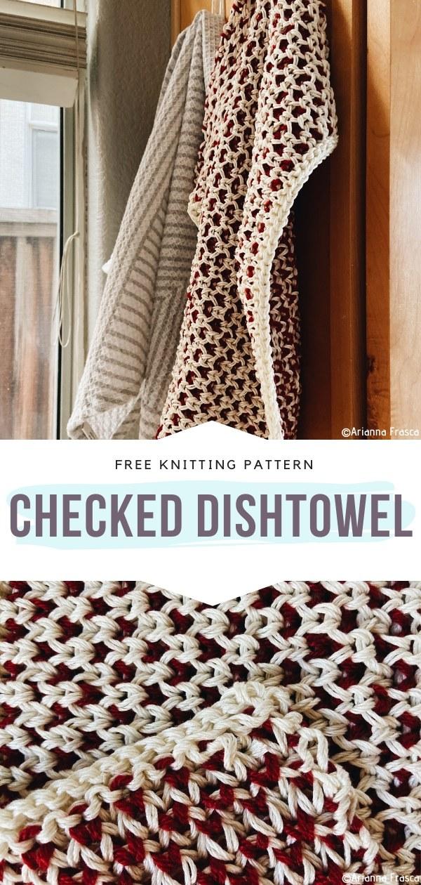 Checked Dishtowel Free Knitting Pattern