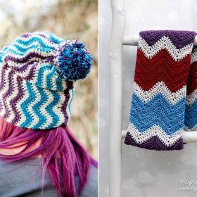 Chevron Winter Accessories Free Crochet Patterns