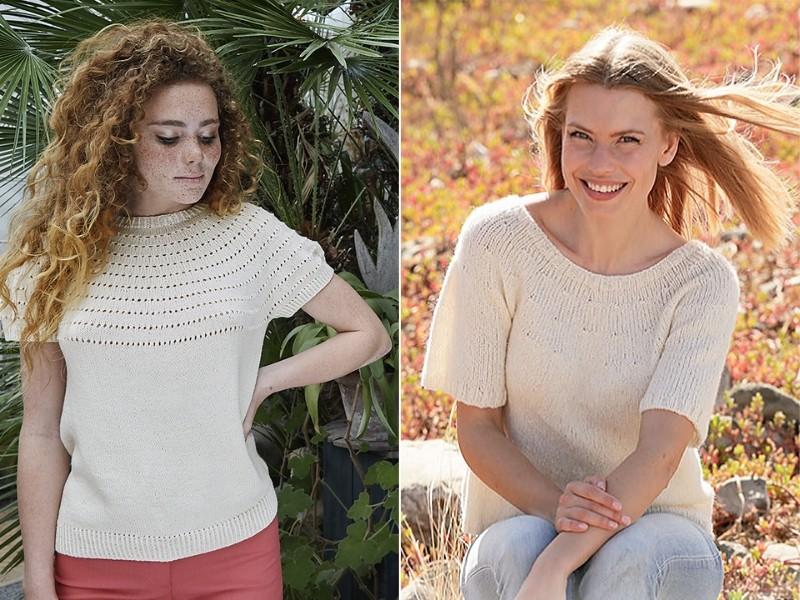Creamy Tops Free Knitting Patterns