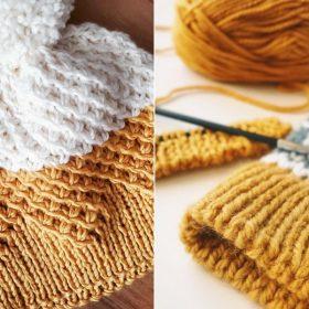 Deep Yellow Beanies Free Knitting Patterns