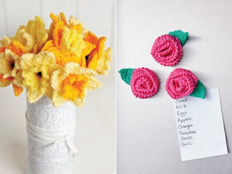 Delicate Flowers Free Knitting Patterns
