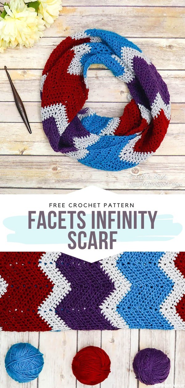 Facets Infinity Scarf Free Crochet Pattern