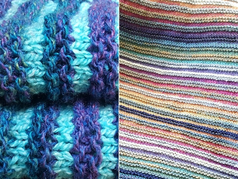 Multicolor Stripes Blankets Free Knitting Patterns