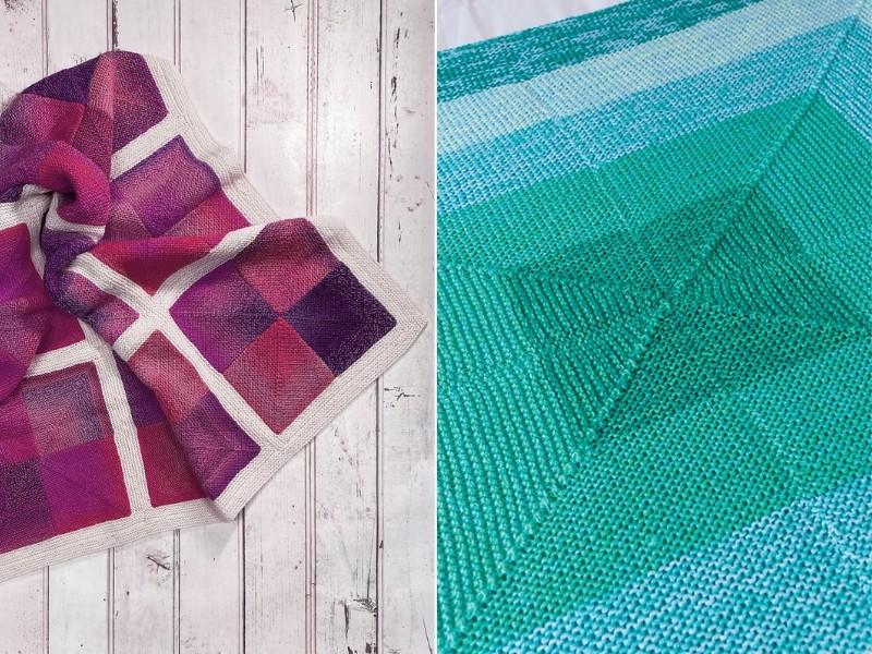 Geometric Blankets Free Knitting Patterns