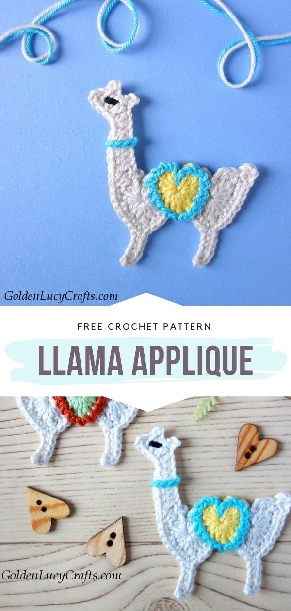 Llama Applique Free Crochet Pattern
