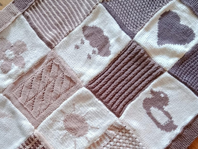 Lovely Squares Blankets Free Knitting Patterns