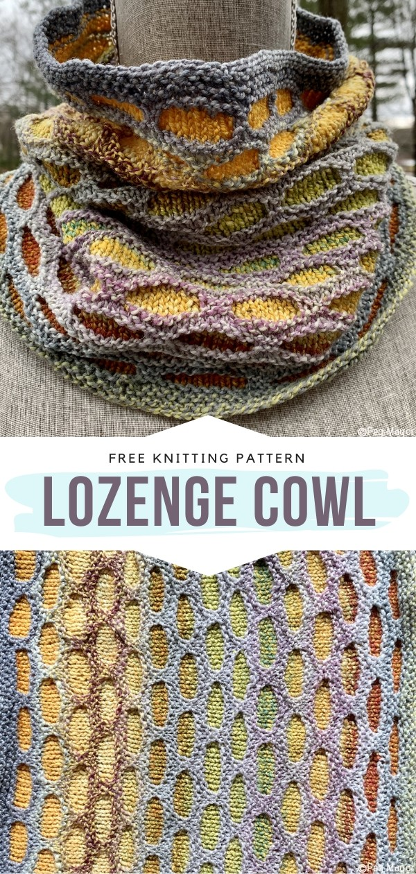 Lozenge Cowl Free Knitting Pattern