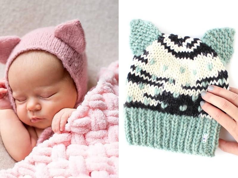 Meow Baby Hats Free Knitting Patterns