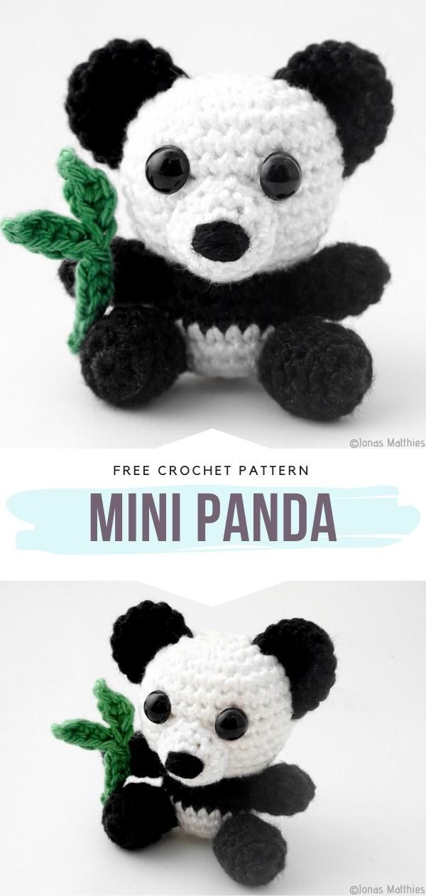 Mini Panda Free Crochet Pattern