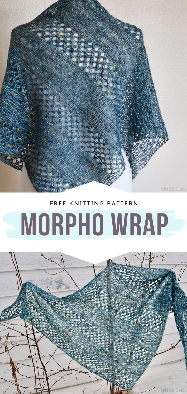 Knit Lacy Wrap