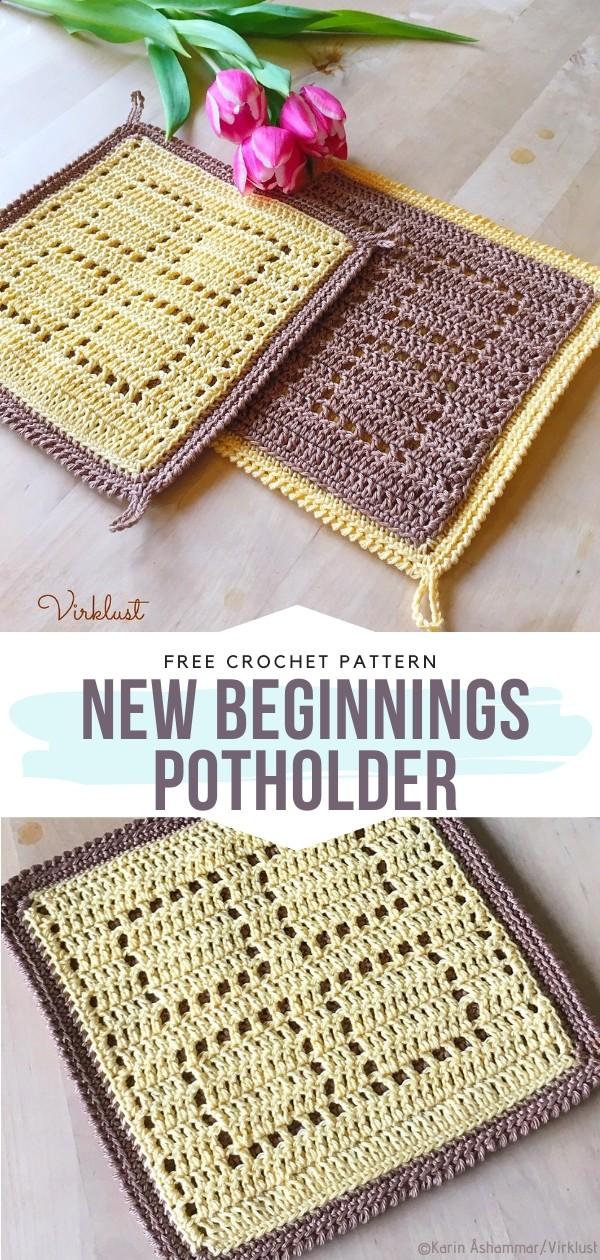 New Beginnings potholder Free Crochet Pattern