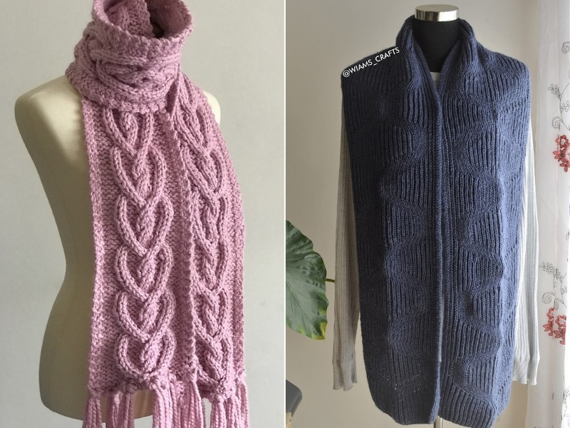 Scarves for Her and Him Free Knitting Patterns