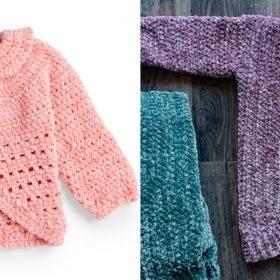 Velvet Baby Cardigans Free Crochet Patterns (1)