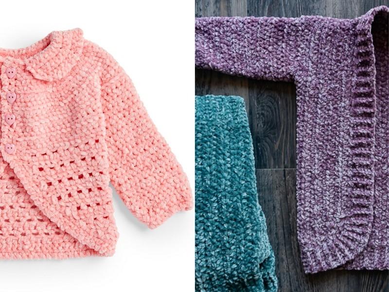 Velvet Baby Cardigans Free Crochet Patterns