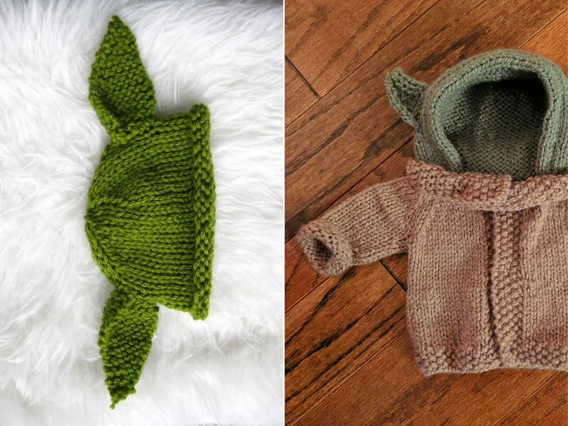 Baby Yoda Fashion Free Knitting Patterns