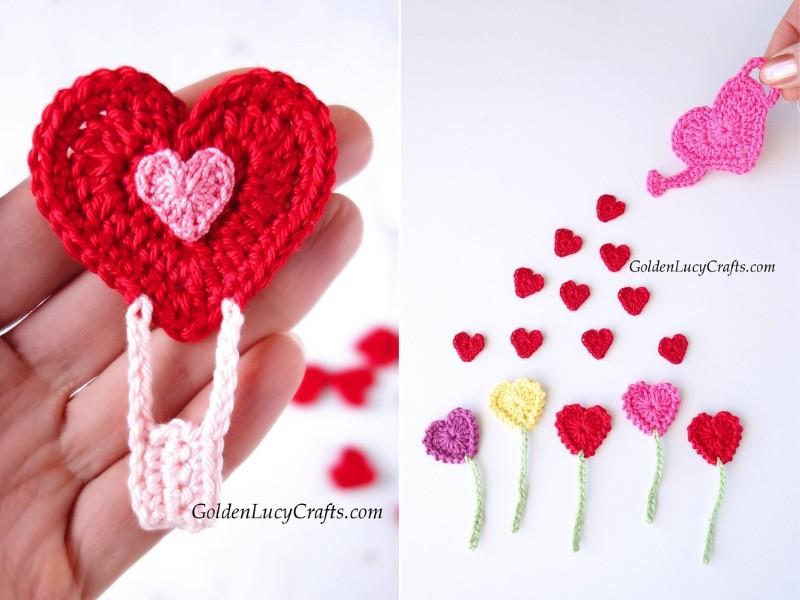 Cupid's Favorite Appliques Free Crochet Patterns