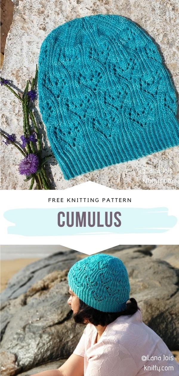 Knit Lacy Hat