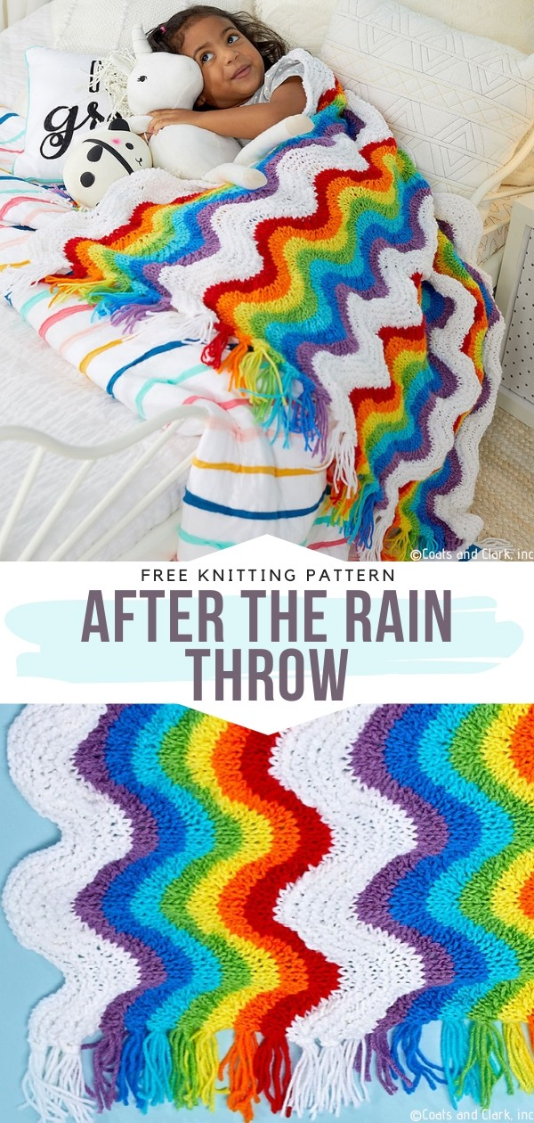 After the Rain Throw Free Knitting Pattern
