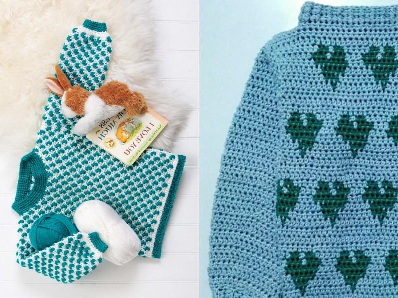 Aquamarine Baby Jumpers Free Crochet Patterns