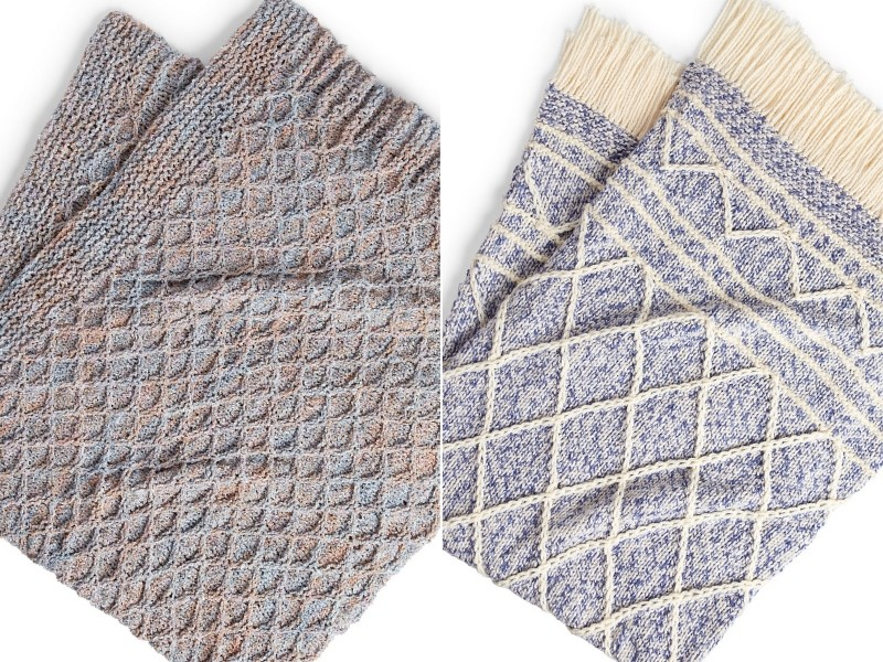 Modern Diamond Blankets Free Knitting Patterns