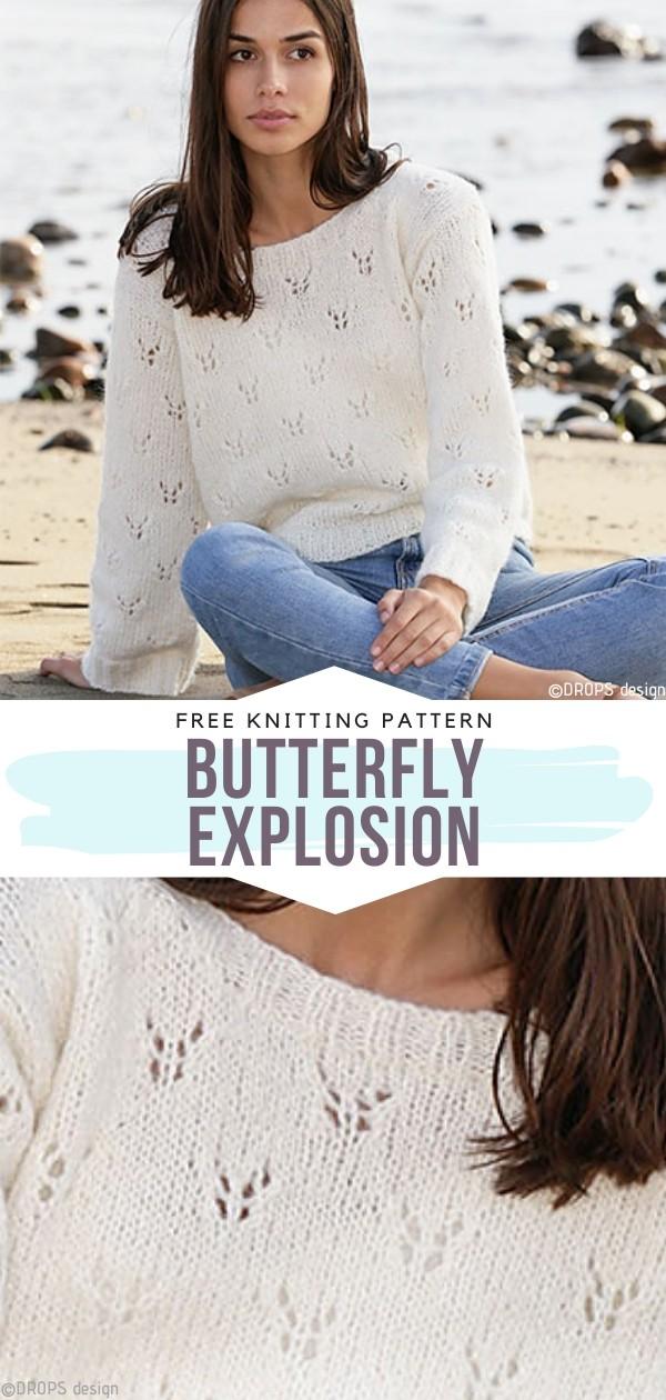 Butterfly Explosion Free Knitting Pattern