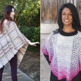 Chic Ponchos Free Knitting Patterns