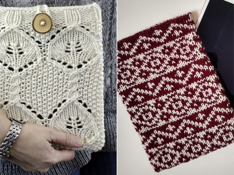 Chic Tablet Covers Free Knitting Patterns