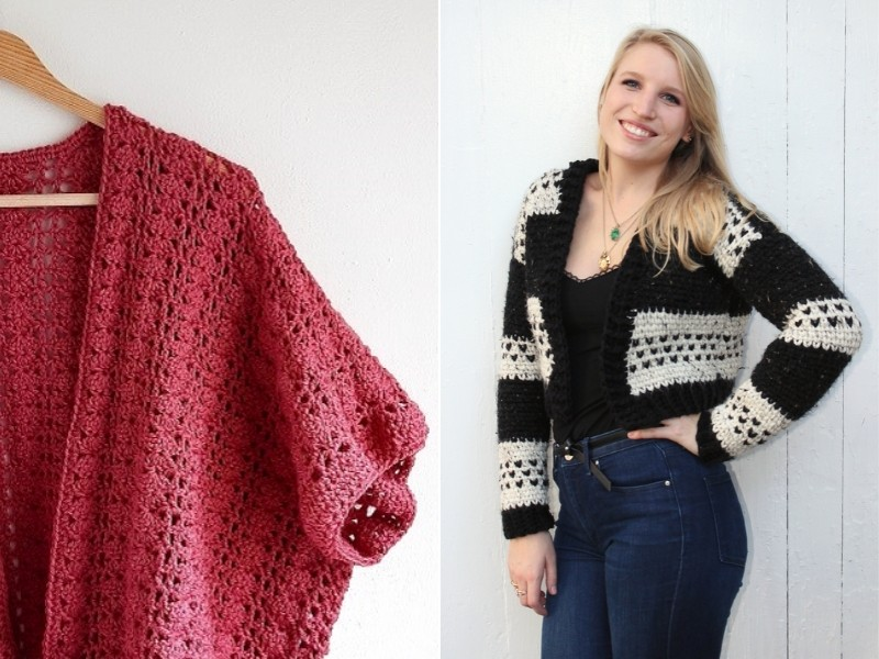 First Days of Spring Cardis Free Crochet Patterns