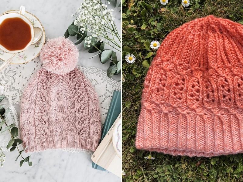 Subtle Lacy Hats Free Knitting Patterns