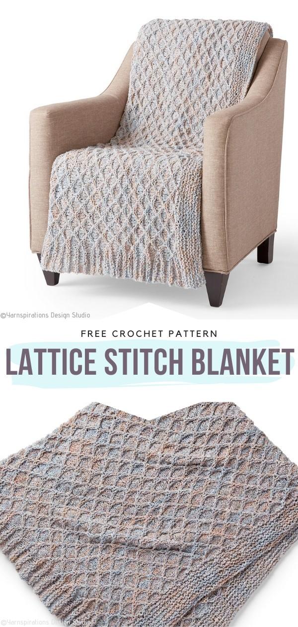 Lattice Stitch Blanket