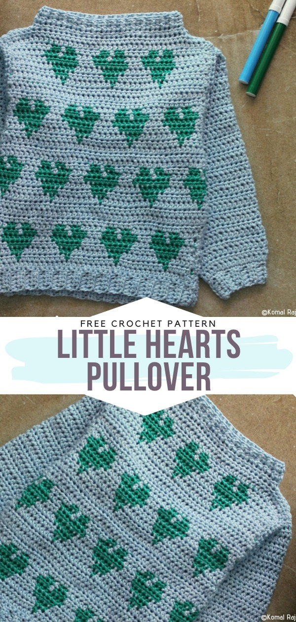 Little Hearts Pullover Free Crochet Pattern