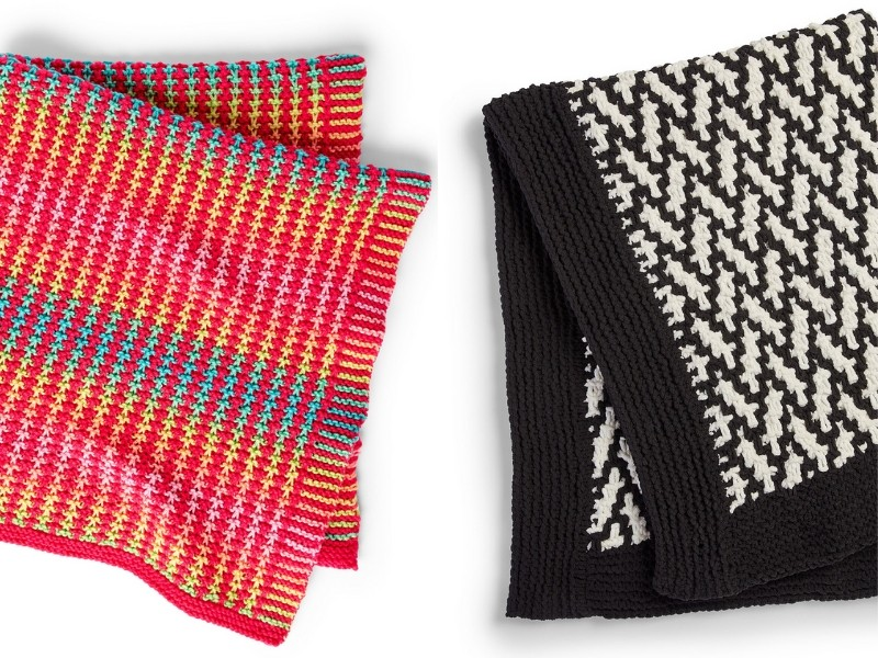 Mosaic Blankets Free Knitting Patterns