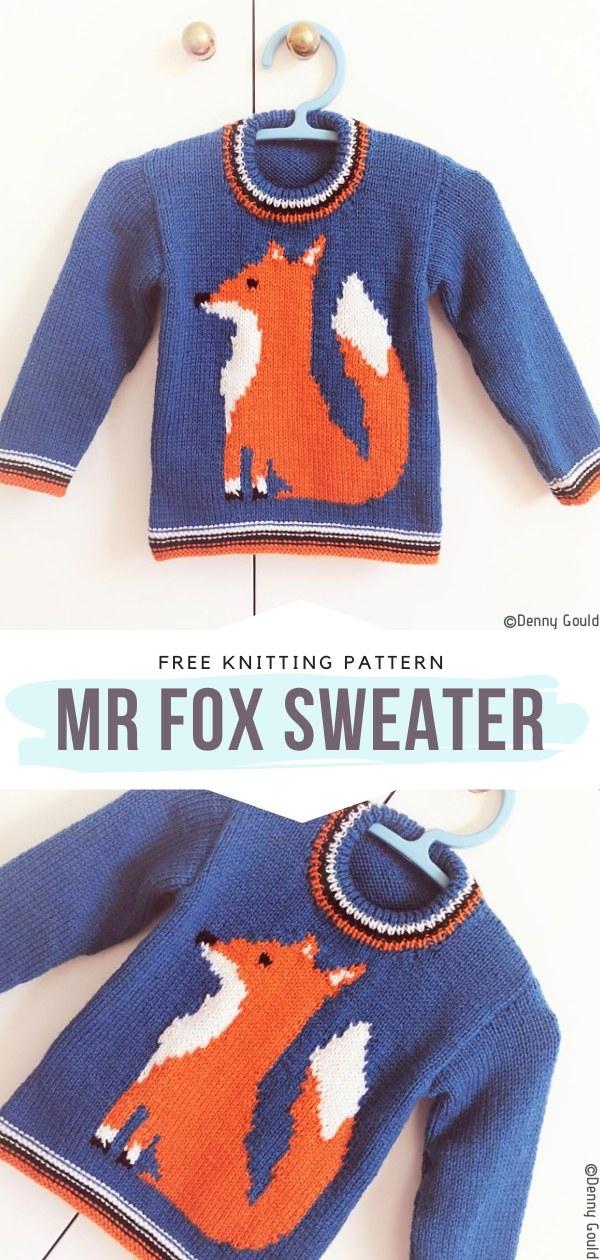 Mr Fox Sweater Free Knitting Pattern