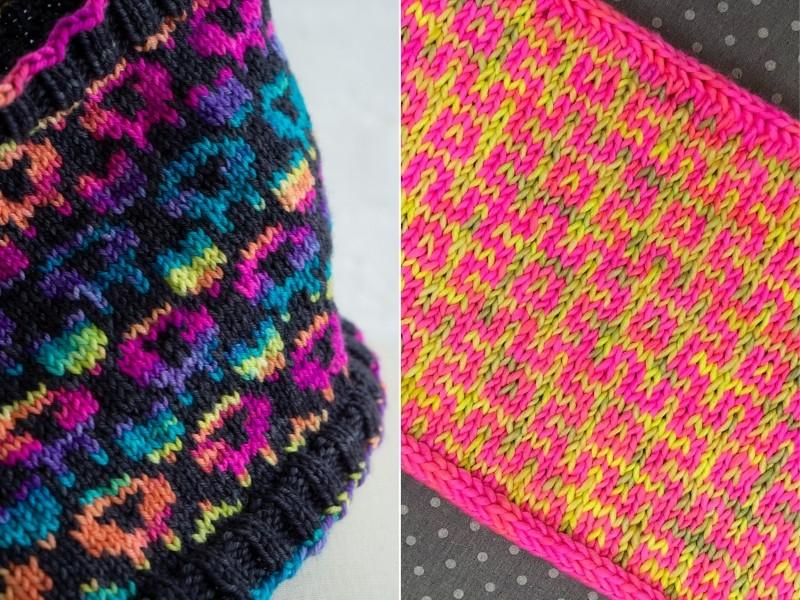 Neon Winter Accessories Free Knitting Patterns