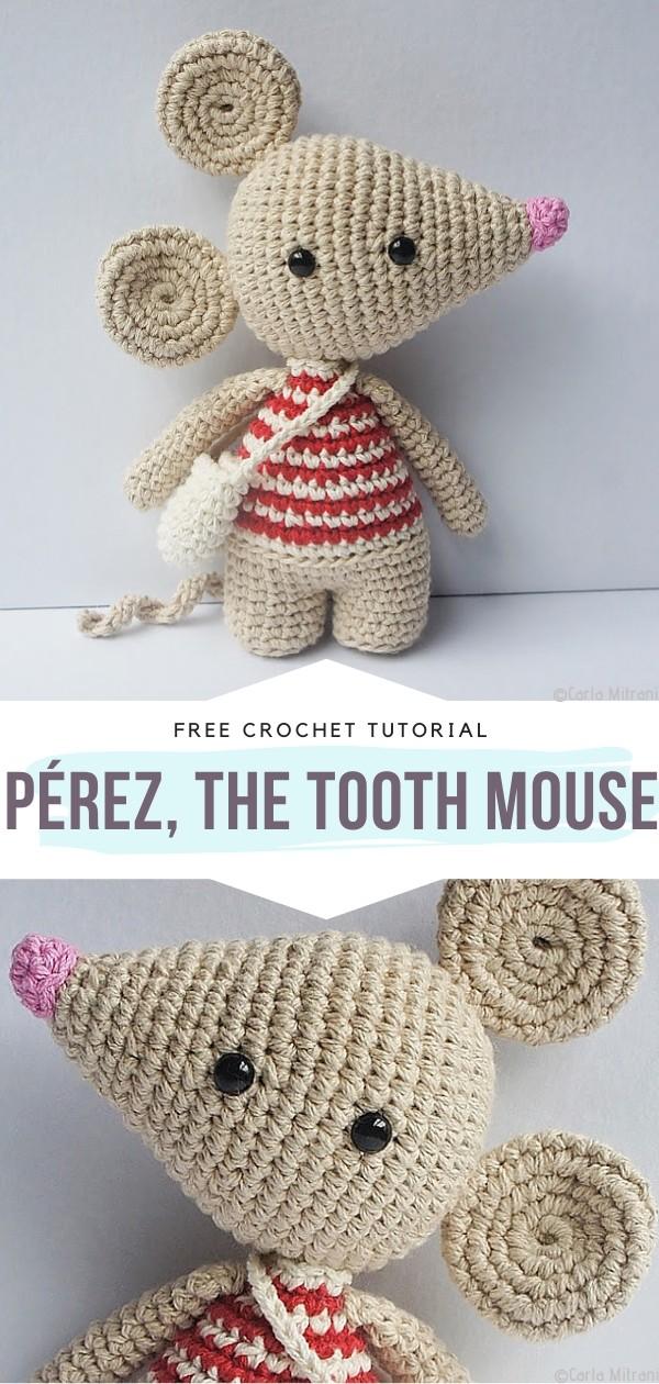 Pérez, the Tooth Mouse Free Crochet Pattern