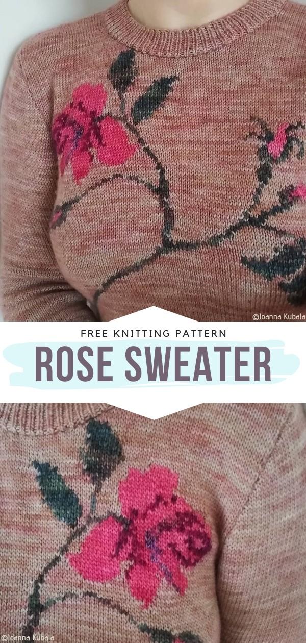 Rose Sweater Free Knitting Pattern