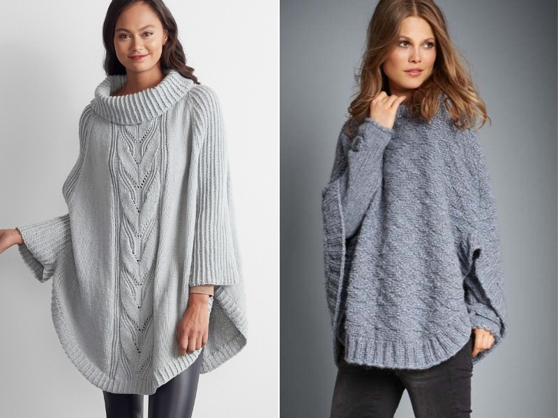 Spiced Up Simplicity Ponchos Free Knitting Patterns (1)