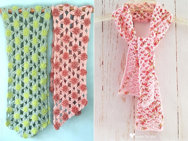 Spring Flowers Shawls Free Crochet Patterns