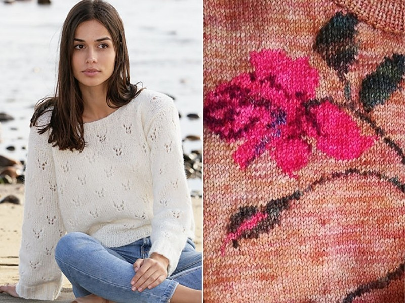Spring Lover Pullovers Free knitting Patterns