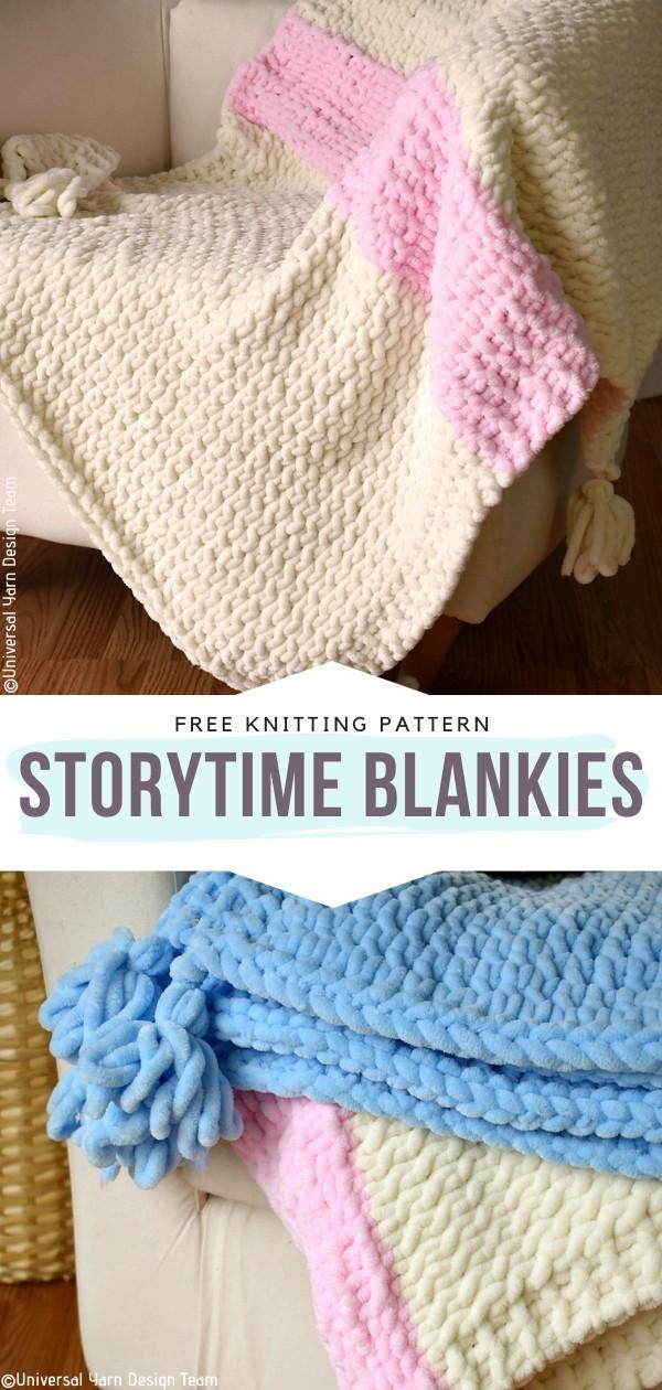 Storytime Blankies Free Knitting Pattern