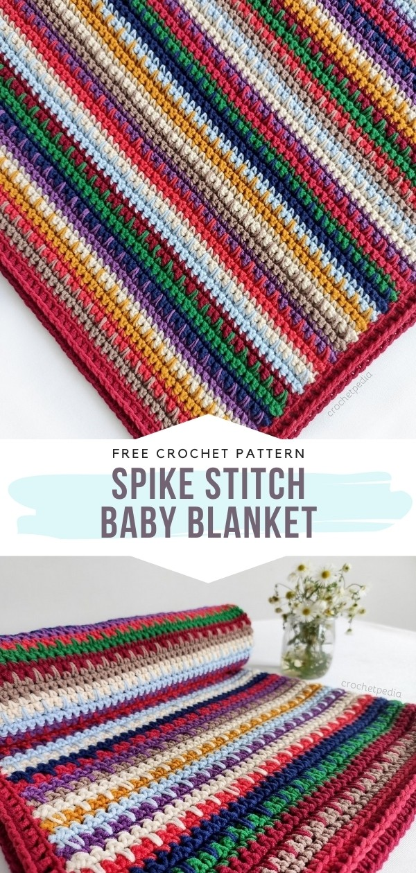 Spike Stitch Baby Blanket