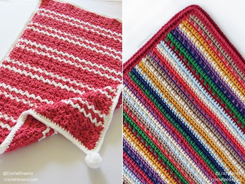 Quick and Simple Baby Blankets with Free Crochet Patterns