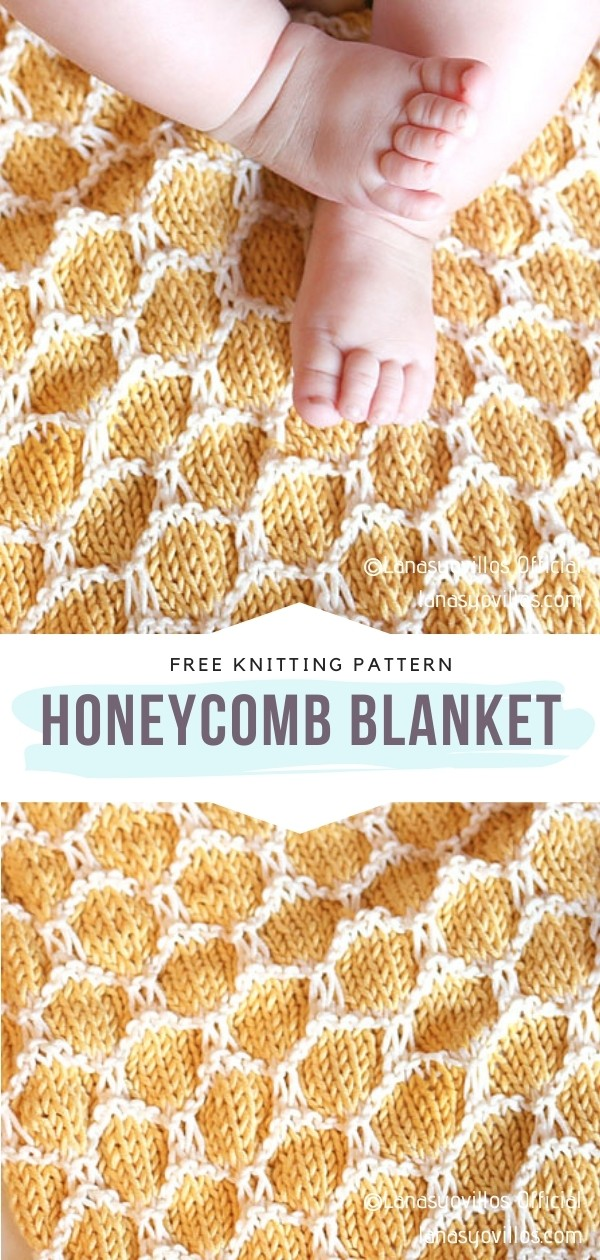Knitted Honeycomb Blanket