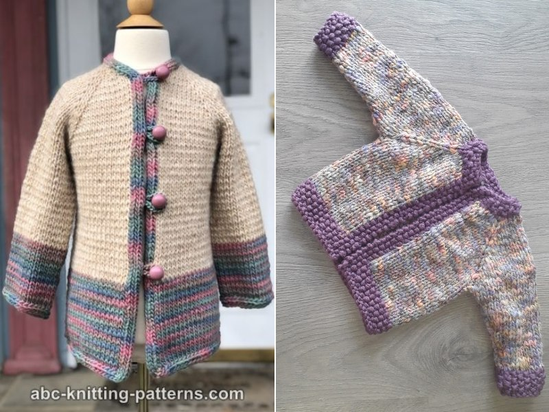 Bulky Cardis for Kids Free Knitting Patterns
